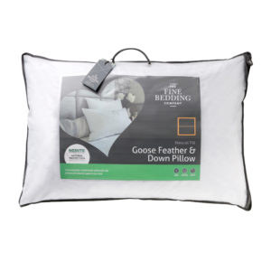 The Fine Bedding Company Natural Fill Goose Feather & Down Pillow