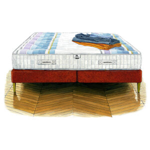 J Marshall No. 1 with shallow divan base (20% OFF)