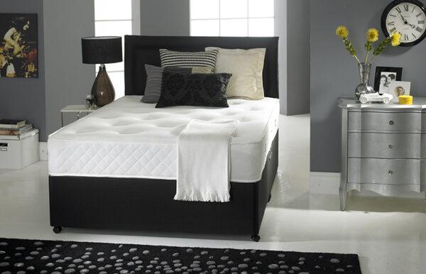 Deep Sleep Silk 1000 Pocket & Memory Foam Platform Top Divan Set with Drawers (40% OFF)