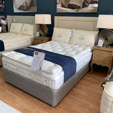 HALF PRICE Hypnos Celestial 4'6/standard double mattress with Gallery 4 drawer base & headboard